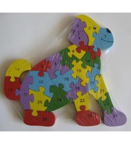 Dřevěné puzzle - PEJSEK