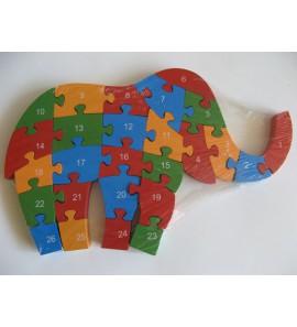 Dřevěné puzzle - SLON