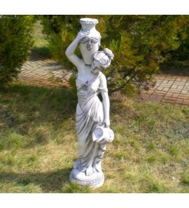 Socha ženy s vázou fontána