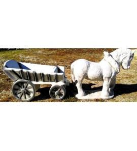 Kůň s vozíkem