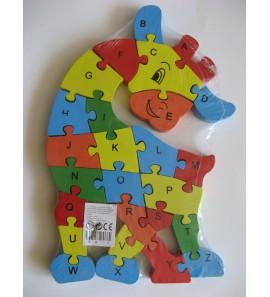 Dřevěné puzzle - ŽIRAFA