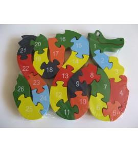 Dřevěné puzzle - HAD