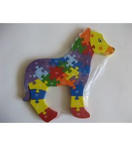 Dřevěné puzzle - KŮŇ